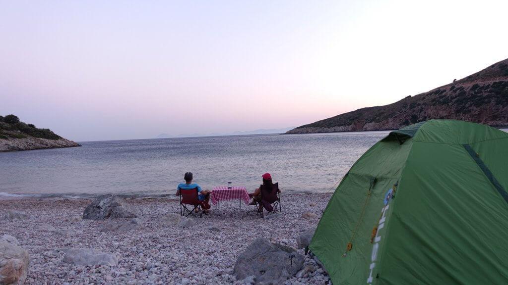 Datça Akvaryum Koyu kamp alanı